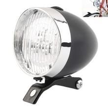 2 PCS 3 LED Retro Fiets Koplamp Night Riding Safety Warning Light (Zwart)