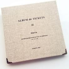 Bill Storage Boek Concerttickets Movie Ticket Ticket Ticket Favorieten Albums Boek (Grijs wit)