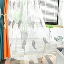 Geborduurde Tule raam gordijnen voor woonkamer slaapkamer keuken raam gordijnen (grijs)