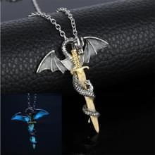 Lichtgevende Jewelry Dragon Sword hanger ketting donkere Anime ketting
