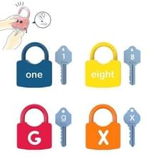 4 PCS Kinderen Alphanumeric en Number Matching Lock Early Educational Toys  Random Style Delivery