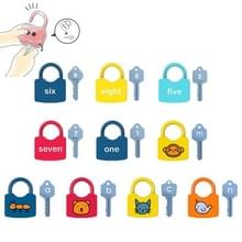 10 PCS Kinderen Alphanumeric en Number Matching Lock Early Educational Toys  Random Style Delivery