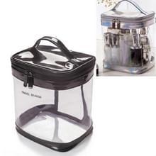 Travel Cosmetische Tas Creatieve multifunctionele waszak  stijl: cilinder (transparant)