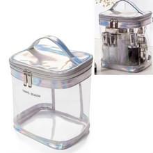 Travel Cosmetische Tas Creatieve Multifunctionele Waszak  Stijl: Cilinder (Zilvergrijs)