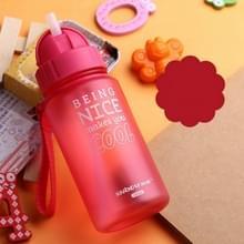 400ml baby fles draagbare touw morsbestendig kinderen Cup plastic fles voor kinderen drink water met stro (rood)