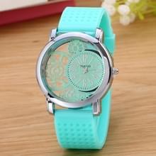 Holle versnelling Dial silicone riem quartz horloge (mint groen)