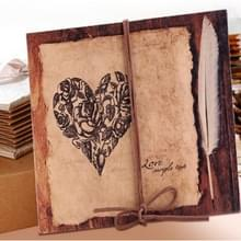 Retro plakken vouwen 18 vouwpagina's 34 kanten creative manual album boek (Koffie Kraft Inside Pagina)