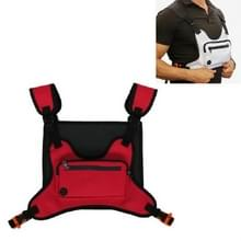 Multifunctionele Outdoor Sport en Leisure Chest Bag Fitness Vest Bag (Rood)