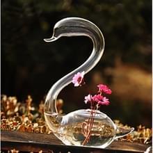 Swan Flower Vazen Home Decoratie Bloempotten Plantenbakken Bruiloft Decoratie Vasos Party Gifts Glas Ambachten  Vorm: Mannelijke Zwaan