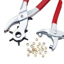 1Set 45 # staal Punch Tang sets  oogje Tangen en ijzer bevindingen  geschikt voor leder Punch (rood)