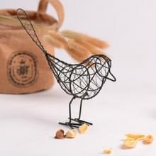 2 stuks Ldyllic smeedijzeren vogel metalen geschenken ambachten tabel huis decoratie HandCraft accessoires (zwart)