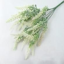 Romantische lavendel bloem zijde kunst bloemen nep bloemen graan decoratieve simulatie planten (wit)