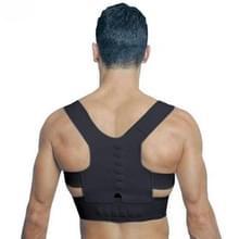 Magnetische therapie houding Corrector Brace schouder terug steun gordel voor mannen vrouwen volwassen accolades ondersteunt bovenste correctie korset  Size:L(Black)
