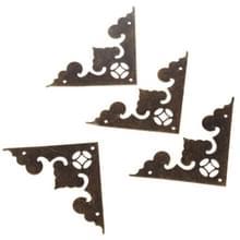 20 stuks antieke hoek beugel sieraden cadeau doos hout geval decoratieve voeten been hoek decoratieve beschermer meubilair fittingen