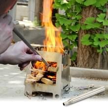 2 stks Outdoor Camping Fire tool RVS blazer picknick barbecue barbecue gereedschap intrekbare klap toorts  specificatie: 8 secties