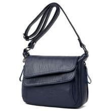 Zomer lederen luxe handtassen vrouwelijke schouder messengertas (blauw)