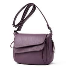 Zomer lederen luxe handtassen vrouwelijke schouder messengertas (paars)