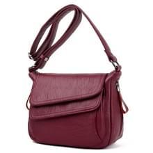 Zomer lederen luxe handtassen vrouwelijke schouder messengertas (rood)