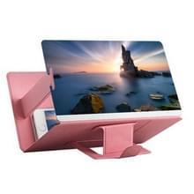 8 inch universele mobiele telefoon 3D scherm versterker HD video Vergrootglas stand beugel houder (roze)