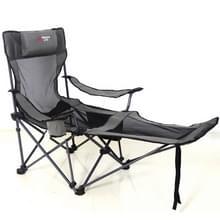 Draagbare outdoor vouwen fauteuil wild Fishing Camping Leisure kruk RVS vouwen strandstoel meubilair (zwart kaki)