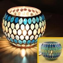 Mozaïek glazen kandelaar retro ornamenten gift Bar kaars Cup Home accessoires (Willow)