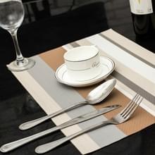 2 PC'S keuken dinning tabel placemat servetten hittebestendig PVC Stripe mat placemats Manteles doilies Coaster Cup pad (beige)