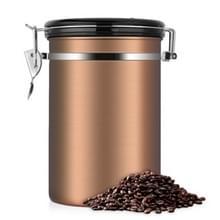 Koffie container roestvrijstaal thee opslag kisten zwarte keuken Sotrage Canister koffie thee Caddies Teaware (goud)