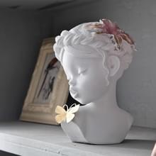 2 PC'S creatieve hars mensen standbeeld ambachten Office Home Decoratie bruiloft geschenken (wit)