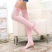 Hou van Bow sport paardrijden kousen hoge knie sokken  grootte: One size (roze)