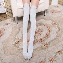 Hou van Bow sport paardrijden kousen hoge knie sokken  grootte: One size (grijs)