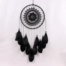 Creatieve Feather Lace Dream Catcher kralen opknoping decoratie (zwart)