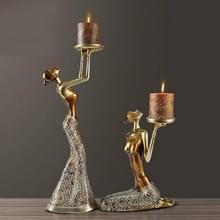 Klassieke dame sculptuur polyresin Vintage serviesje dinning tabel kunst en ambachtelijke sieraad  zonder kaarsen (Champagne)