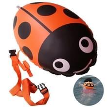 Lieveheersbeestje vorm veiligheid verdikking Gas mondstuk dubbele ballon duik drijft apparatuur zwembad drijvende levensreddende bal opblaasbare Bags(yellow)