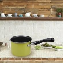 Mini kleurrijke melkpot praktische non-stick soep pot draagbare picknick pot keuken pan (groen)