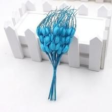 Kunstmatige bloem mini Foam herfst tarwe boeket voor bruiloft decoratie krans nep bloemen (blauw)