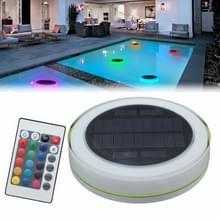 24 LEDs RGB LED onderwater zonne-energie IP68 waterdicht LED licht met afstandsbediening