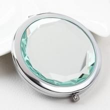 Metalen Crystal make-up spiegel vouwen dubbele spiegel (wit)