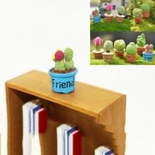 10 PCS Mini Cute Potgevoorde kunst bloem miniatuur doll huis decoratie accessoires(Blauw)
