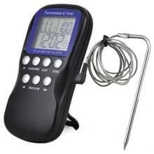 2 stks digitale voedsel sonde oven elektronische thermometer timer temperatuur sensor