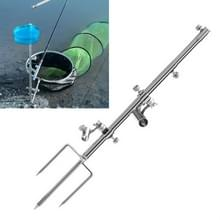 Roestvrij staal multi-functie Wild Fishing Ground Insertion Bracket Fishing Bracket  Style: Drie in een multifunctionele stekker
