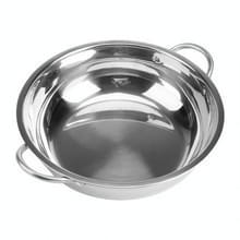 5 stuks RVS hot pot dikke niet-magnetische duidelijk soep pot Double-eared hot pot  grootte: 32cm