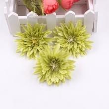 10 stuks simulatie doek chrysant bloem bruiloft Home vaas decoraties DIY krans bloem (groen)