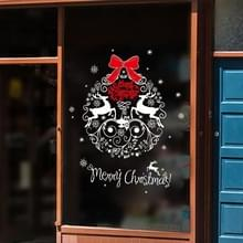 2 stks kerst decoratie elk Santa venster glas sticker