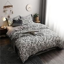 Modieus huishouden katoen beddengoed  Specificatie: 1 5 meter bed (vierdelige set)(Leopard Girl)