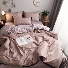Modieus huishoudelijk katoen beddengoed  Specificatie: 1 5 meter bed (vierdelige set)(Ge Yun-Pink)