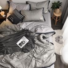 Modieus huishouden katoen beddengoed  Specificatie: 1 5 meter bed (vierdelige set)(Rhyme-Grey)