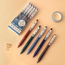Druk op de Retro Gel Pen Student Hand Account Multicolor Painting Morandi Color Marker Pen (Nordic Colors (5PCS/Box))