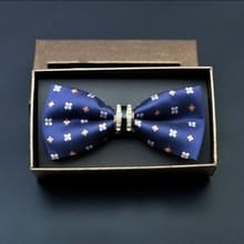 Polyester garen Diamond Bow tie metalen boog voor mannen (klassieke pruim)