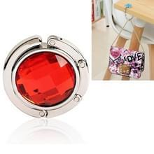 Draagbaar metalen opvouwbare zak tas haak handtas hanger shell tas vouwen tabel haak houder (rood)