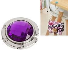 Draagbaar metalen opvouwbare zak tas haak handtas hanger shell tas vouwen tabel haak houder (paars)